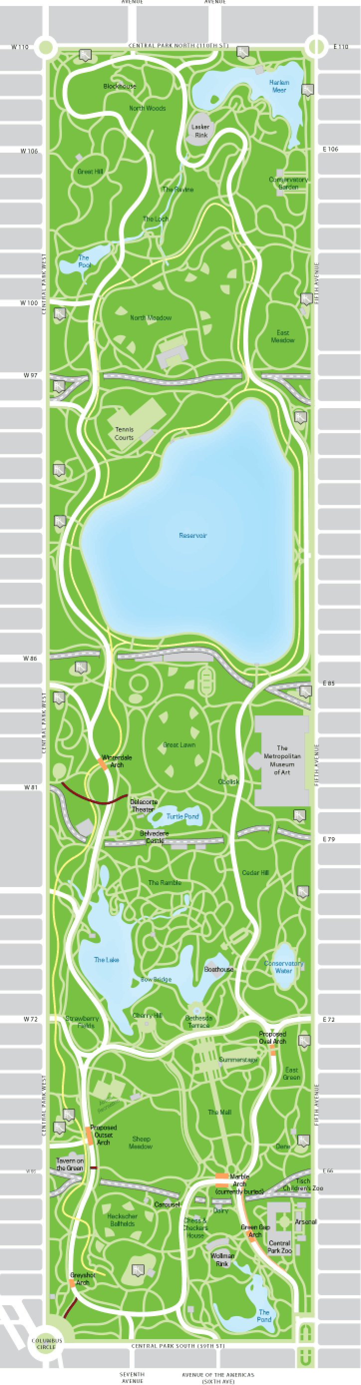 Proposed Central Park Map