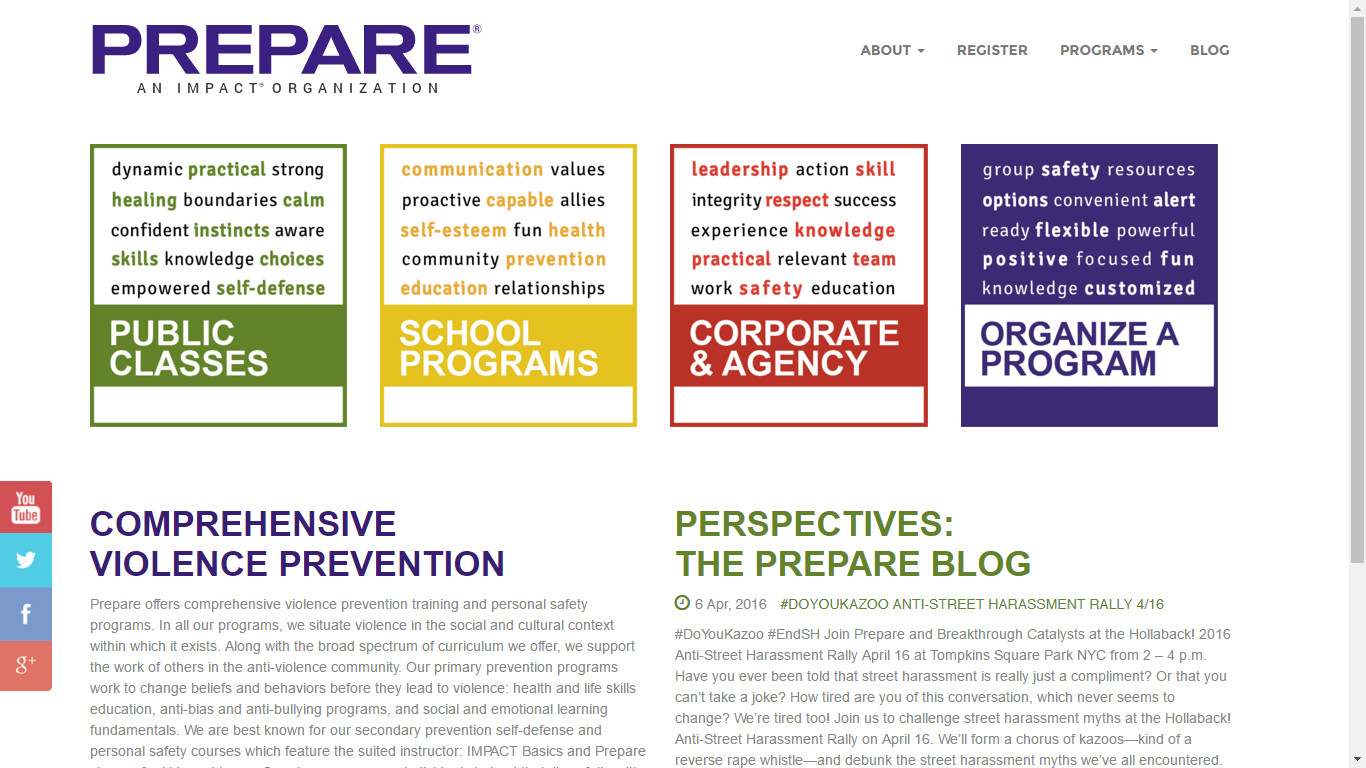 Prepare's New Site
